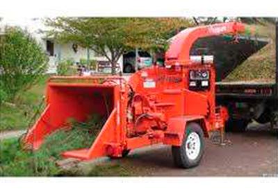 Astilladora para ramas desde un diámetro de 10 cm hasta 20 cm con motor Diesel desde 50 HP