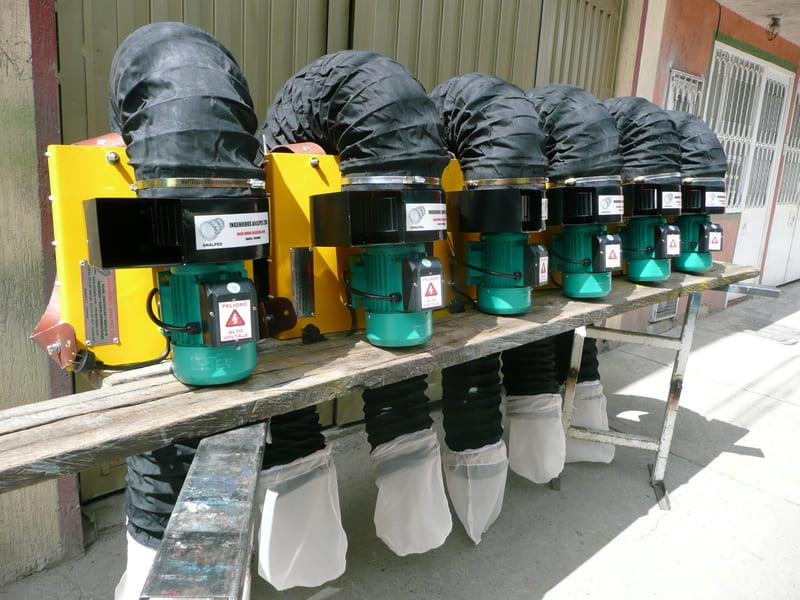 Kit recomendado de aspiradoras eléctricas/ gasolina para un control integrado de plagas en cultivos bajo invernadero o a campo abierto.