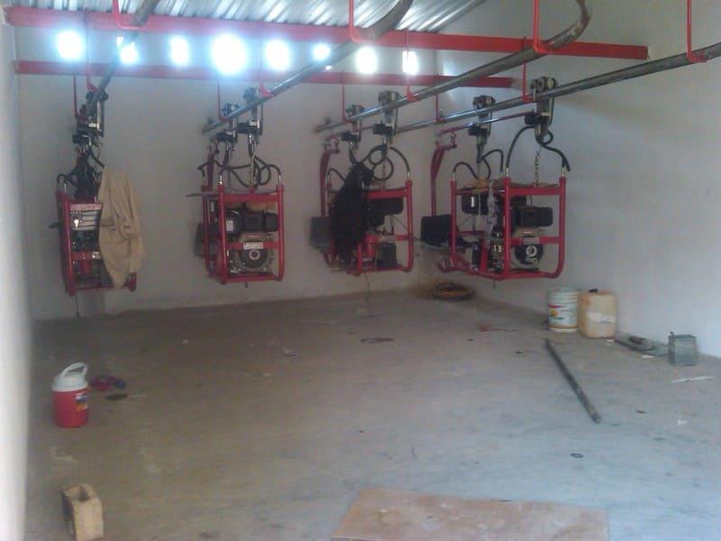 Patio de recepción para kit de tractores aéreos hidráulicos (Analpes)