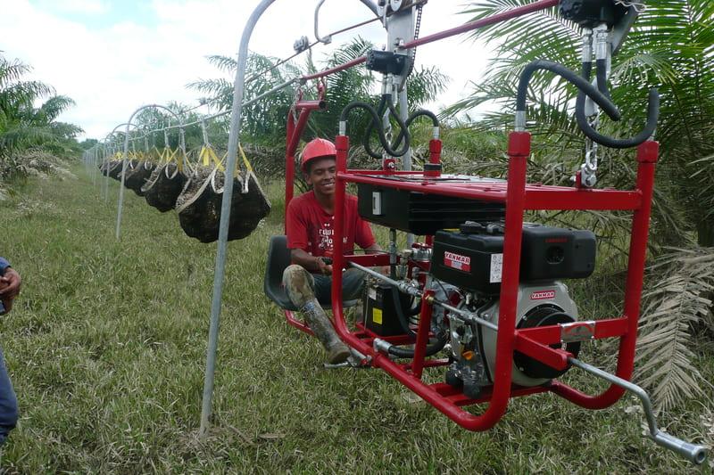 5 ton haladas con tractor aéreo hidráulico.
