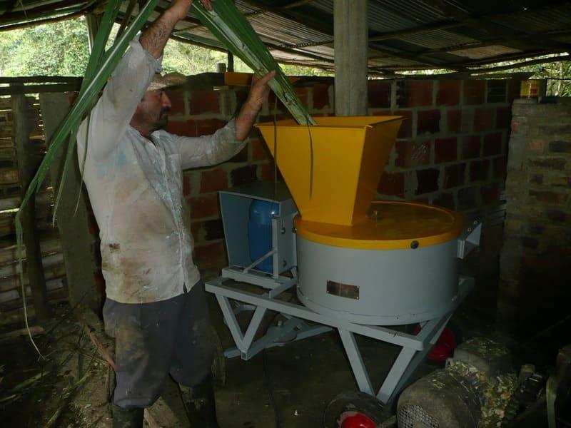 Máquina para picado de caña forrajera, panelera, pasto de corte