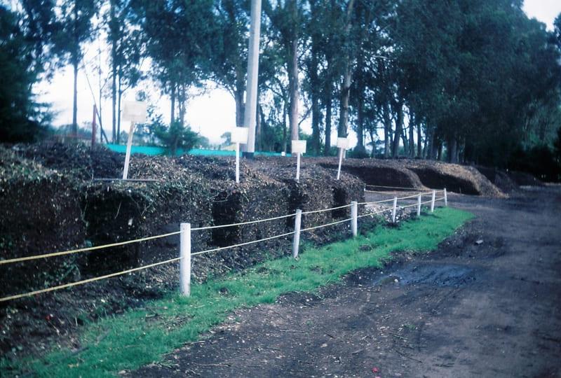 Procesos de compostaje en cubos para reintegrar al suelo y mejorar la estructura del suelo.